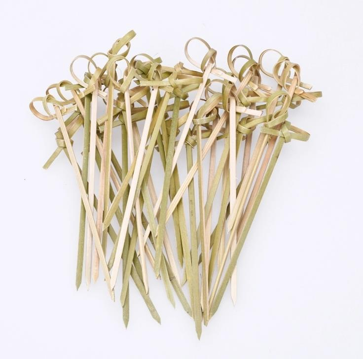 15cm eco friendly natural bamboo knot picks
