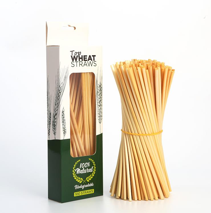 Non plastic eco friendly wheat straws