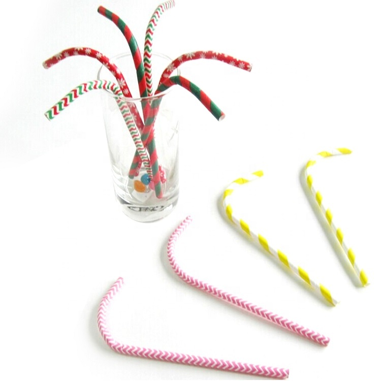 Eco friendly disposable bendable paper straws