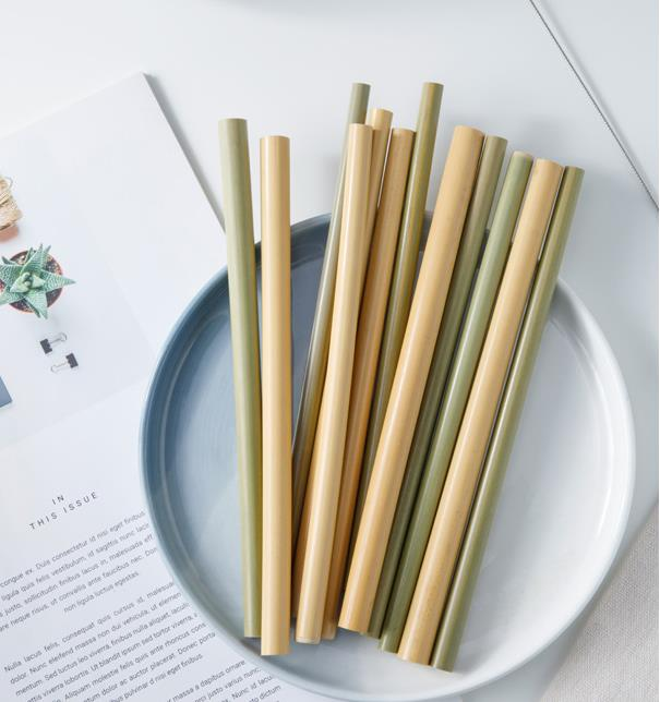 Eco products bamboo reusable organic compostable straws