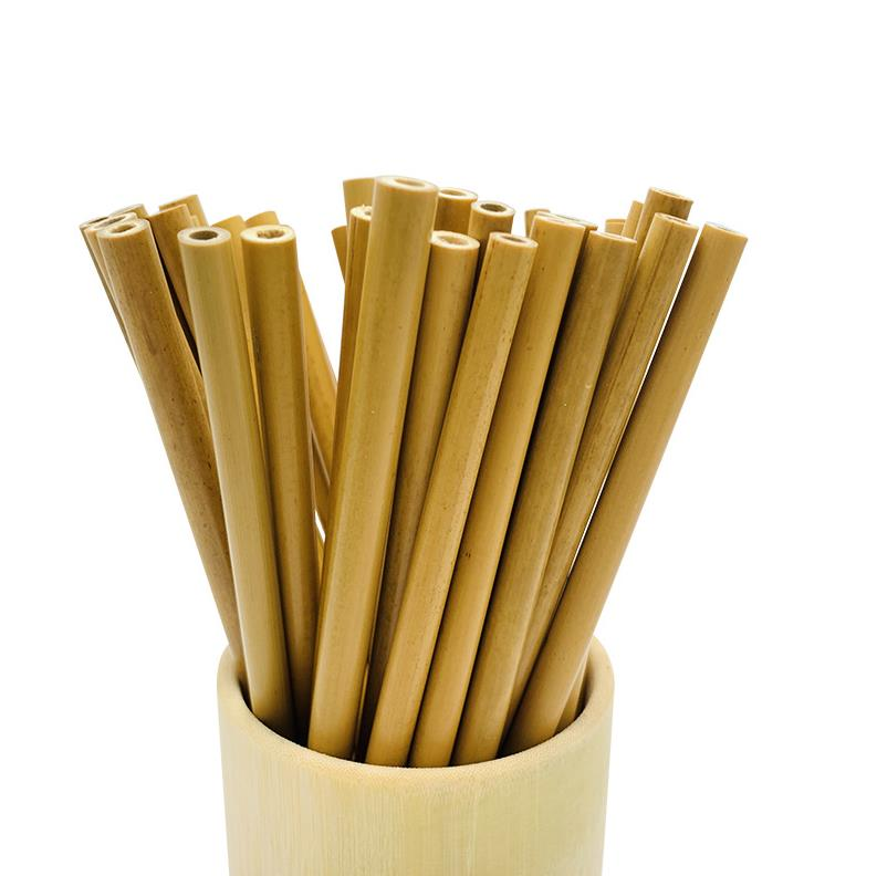 Compostable organic bamboo straws wholesale