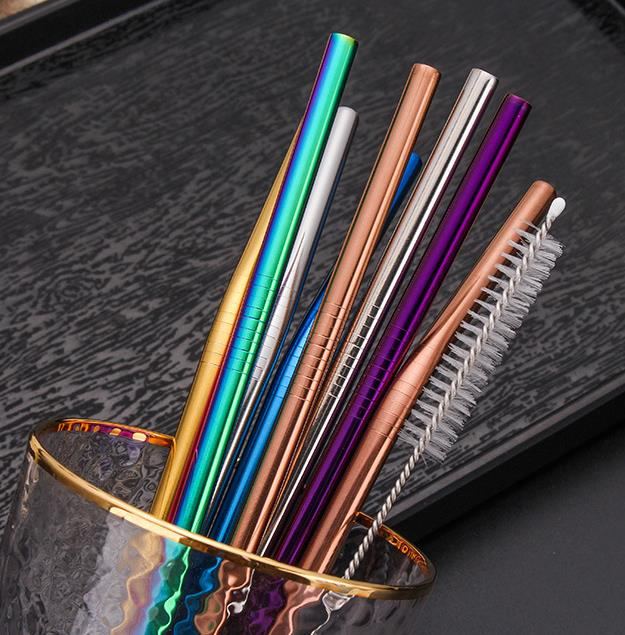 Bulk reusable stainless steel drinking straws