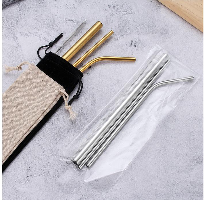 Custom metal straws with case