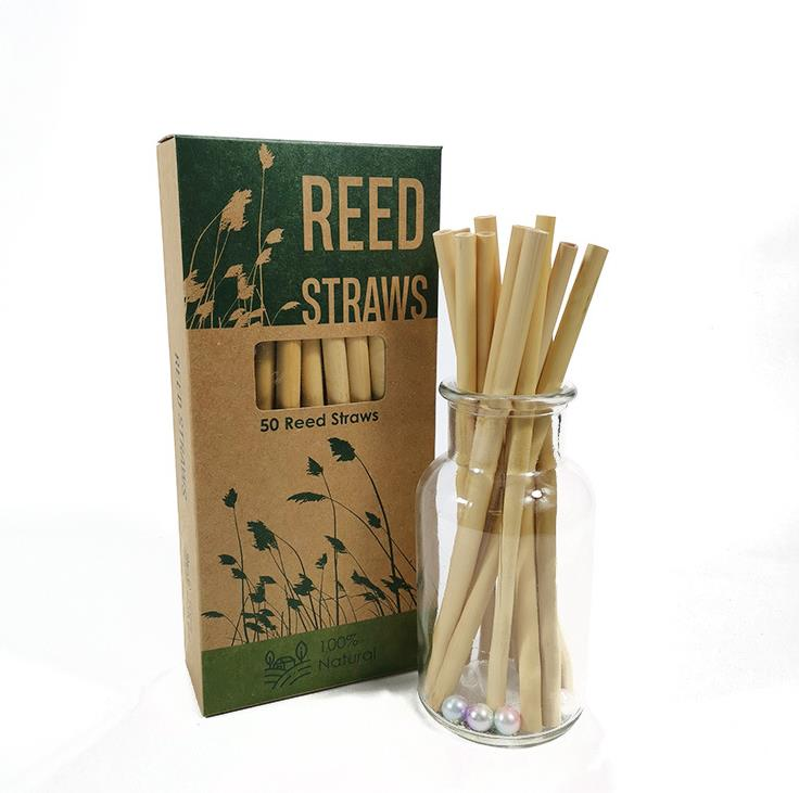 Biodegradable compostable reed straws made from plants