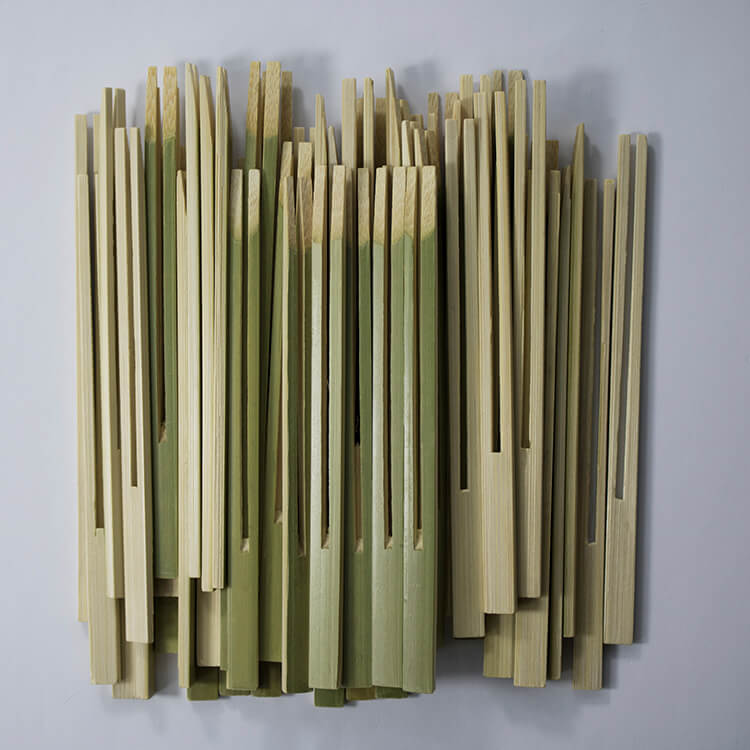 12cm bamboo double prong skewers