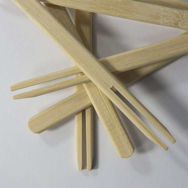15cm bamboo double prong bbq skewers