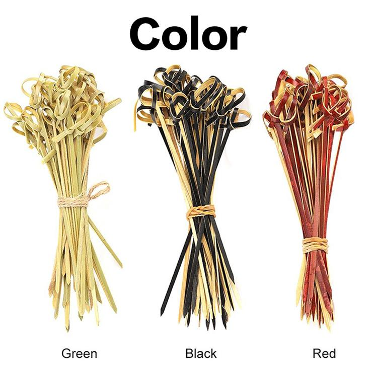 9cm Disposable fruit bamboo knot skewers
